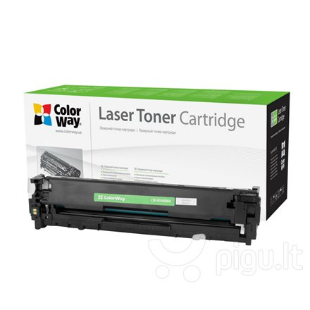 ColorWay toner cartridge for HP CB540A (125A); Canon 716BK