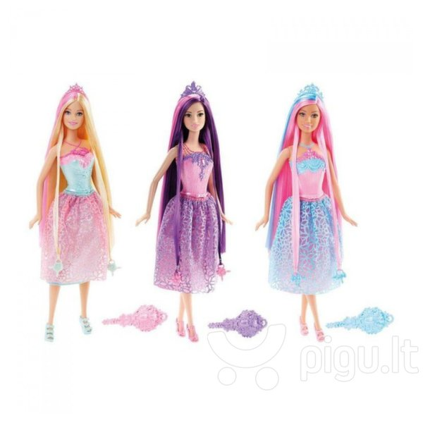 Lėlė Barbie ilgaplaukė princesė DKB56, 1 vnt. kaina ir informacija | Žaislai mergaitėms | pigu.lt