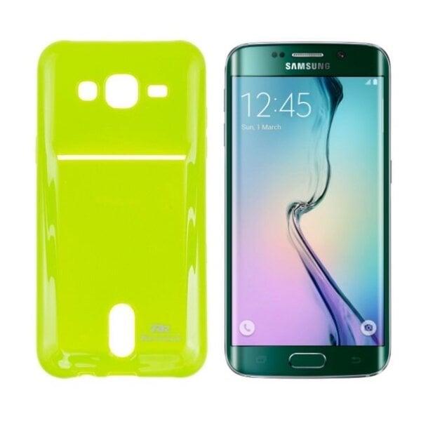 Apsauginis dėklas Roar Card Pocket Jelly skirtas Samsung Galaxy S6 Edge (G925), Šviesiai žalias kaina ir informacija | Telefono dėklai | pigu.lt