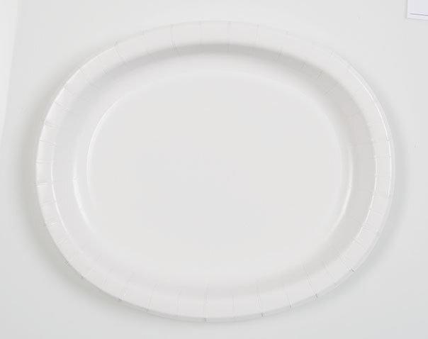 Lėkštutės, baltos ovalios 8 vnt./30 cm kaina ir informacija | Dekoracijos, indai šventėms | pigu.lt