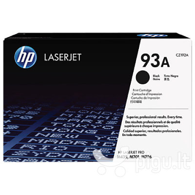 HP 93A Black Original LaserJet Toner Cartridge (12.000 pages)