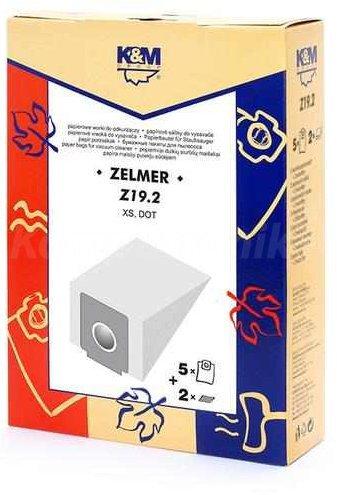 Dulkių maišeliai K&M Z19, 5vnt. kaina ir informacija | Priedai dulkių siurbliams | pigu.lt