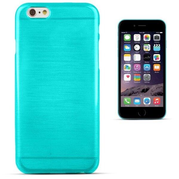 Apsauginis dėklas Forcell Jelly Brush Pearl skirtas Apple iPhone 6 Plus/6S Plus, Mėlynas kaina ir informacija | Telefono dėklai | pigu.lt