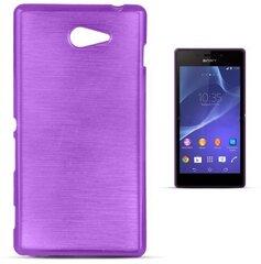 Apsauginis dėklas Forcell Jelly Brush Pearl Back Case skirtas Sony Xperia M2/M2 Aqua (D2303), Violetinis kaina ir informacija | Telefono dėklai | pigu.lt