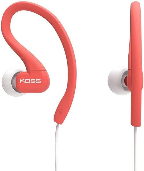 Įstatomos ausinės KOSS KSC32C sportui ir laisvalaikiui, Rausva kaina ir informacija | Ausinės, mikrofonai | pigu.lt