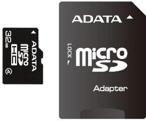 ADATA microSDHC 32GB + SD adapteris