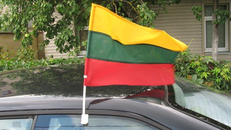 Lietuvos automobilinė vėliavėlė kaina ir informacija | Lietuviška sirgalių atributika | pigu.lt