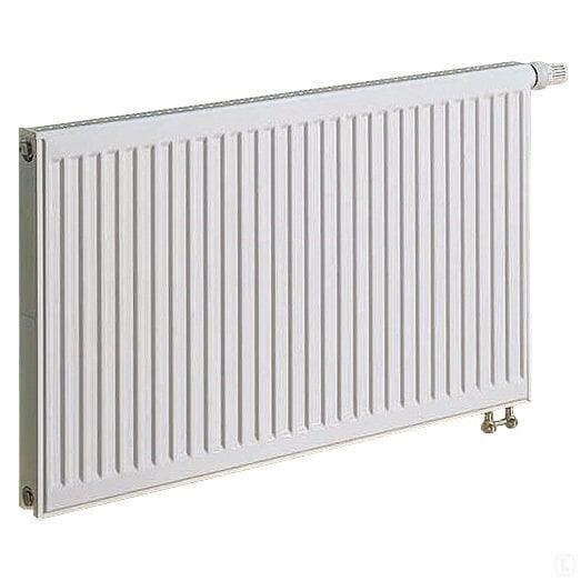 KERMI radiatorius 0.6 x 1.2 m, viengubas, apatinio pajungimo su integruotu ventiliu.