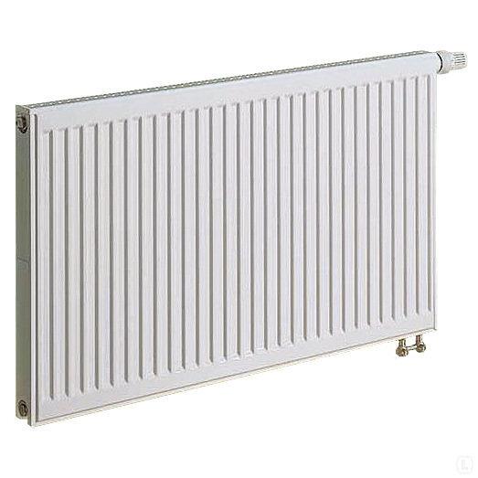 KERMI radiatorius 0.4 x 1.4 m, dvigubas, apatinio pajungimo su integruotu ventiliu.