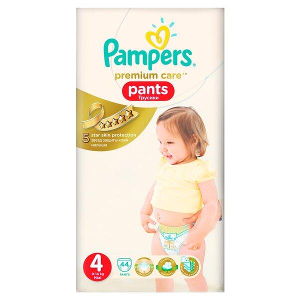 Sauskelnės PAMPERS Premium Care Pants, 4 dydis, 44 vnt. kaina ir informacija | Sauskelnės, vystyklai | pigu.lt