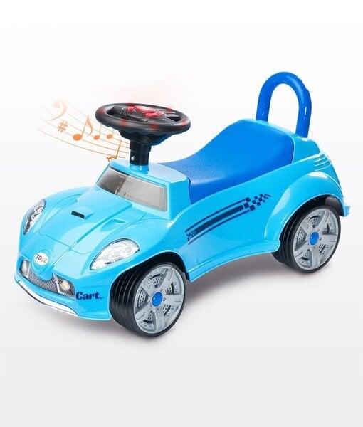 Paspirtukas mašinėlė su garsais Toyz Cart, mėlynas kaina ir informacija | Žaislai kūdikiams | pigu.lt