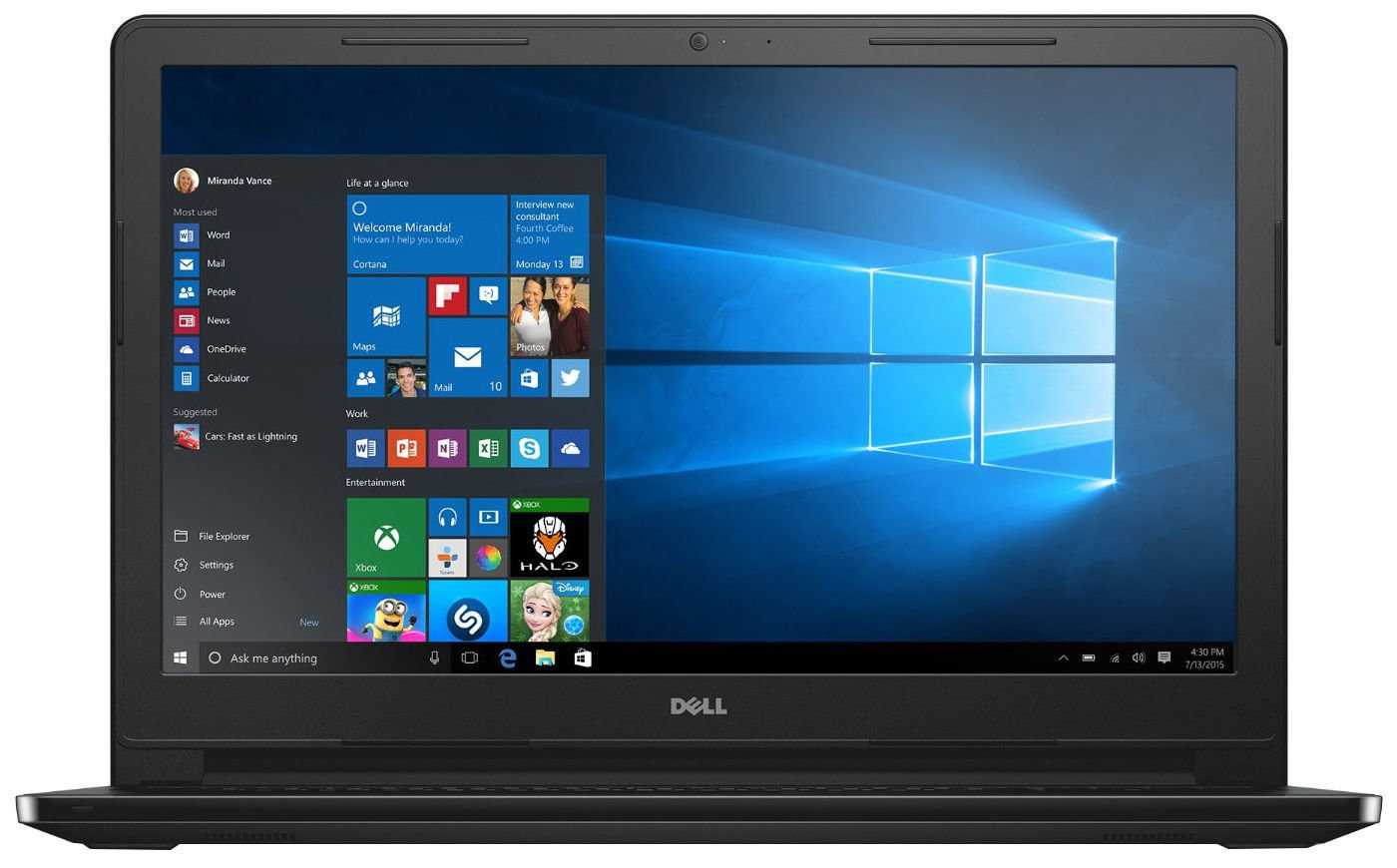 Dell Inspiron 15 3552 N3710 4GB 500GB WIN10