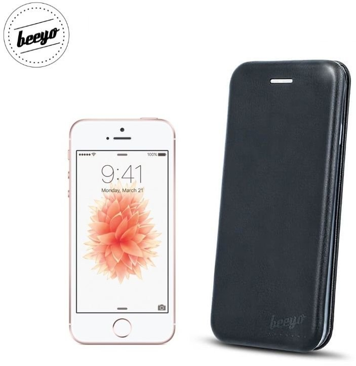 Dėklas Book Elegance Apple iPhone 5/5S/5SE juodas