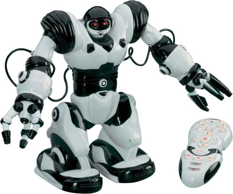 Radijo bangomis valdomas robotas Robosapien R/C WowWee, 8081N