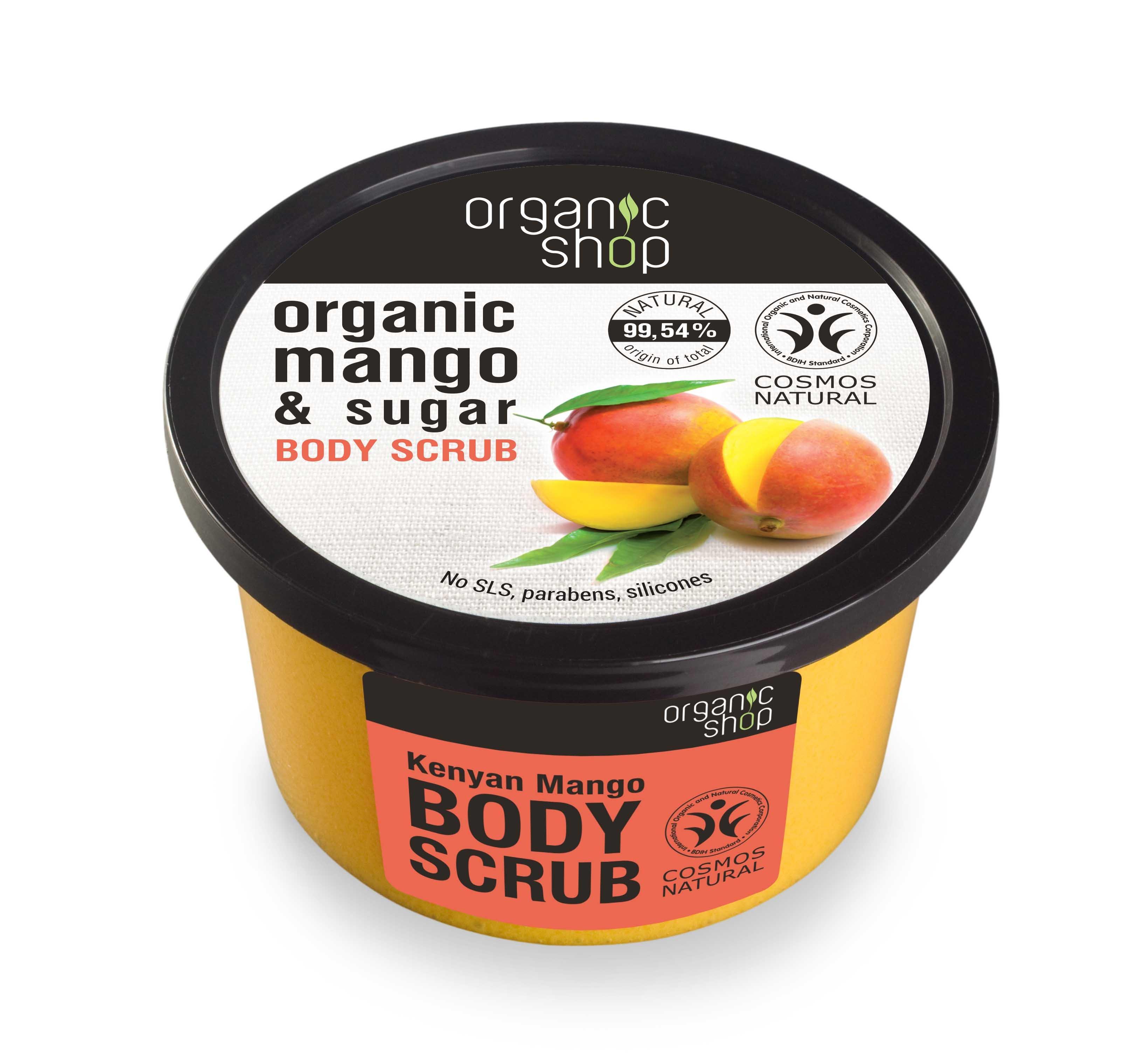 Šveitiklis kūnui su mangais Organic Shop 250 ml
