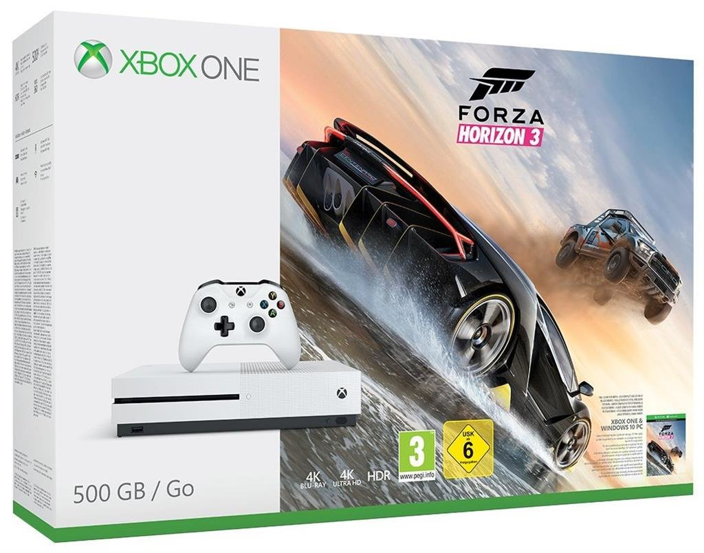 Microsoft Xbox One S 500GB + Forza Horizon 3
