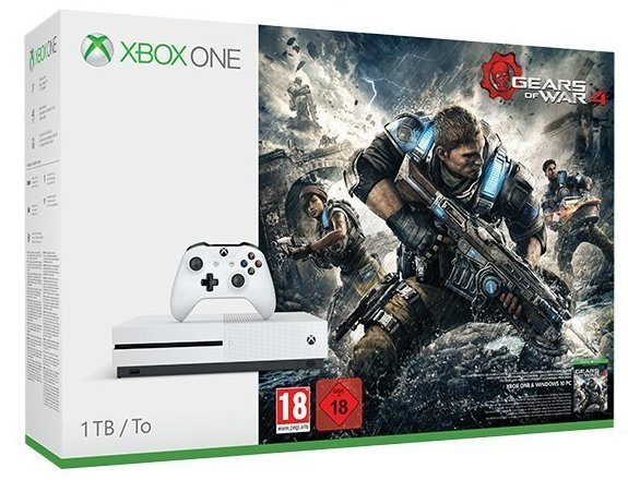 Microsoft Xbox One S 1TB + Gears Of War 4