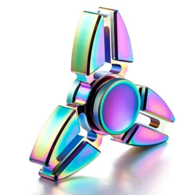 """""""Fidget Spinner"""" metalinis vaivorykštės spalvų suktukas, UFO"""