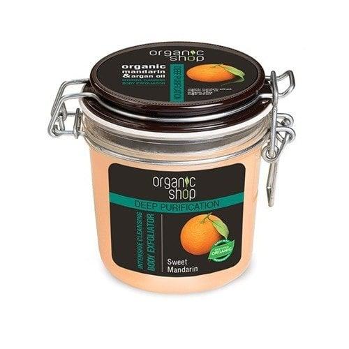 Valomasis šveitiklis kūnui Organic Shop Mandarin & Argan Oil 350 ml