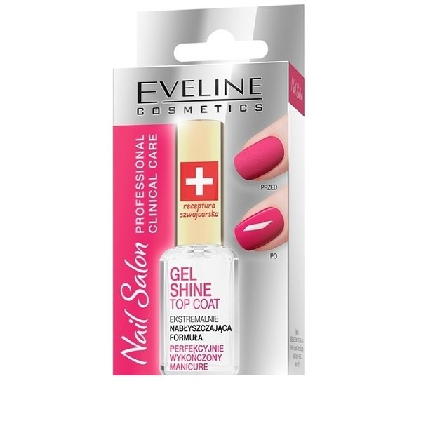 Viršutinis gelinio lakavimo sluoksnis Eveline Nail Salon Clinical Care 12 ml