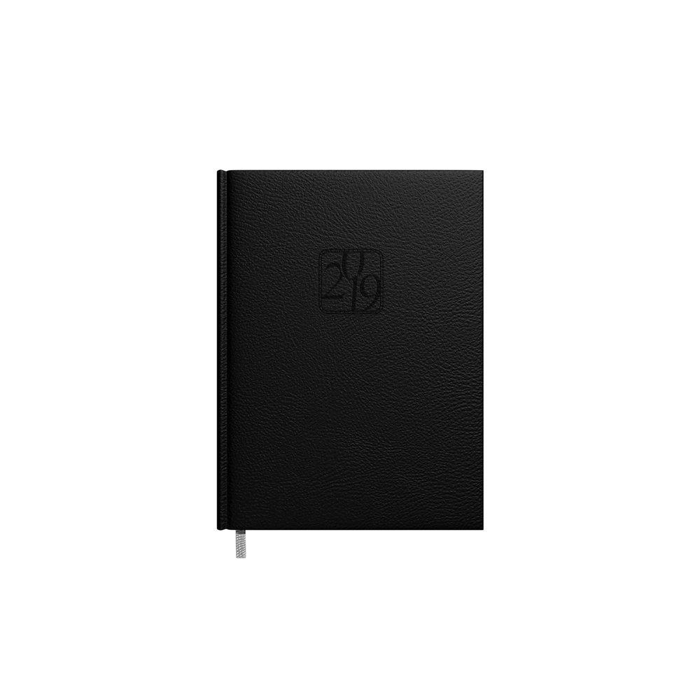 Darbo kalendorius Timer Kancleris Day, 2019 metai, A5, juodas