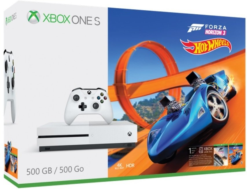 Microsoft Xbox ONE S 500GB + Forza Horizon 3 + Hot Wheels