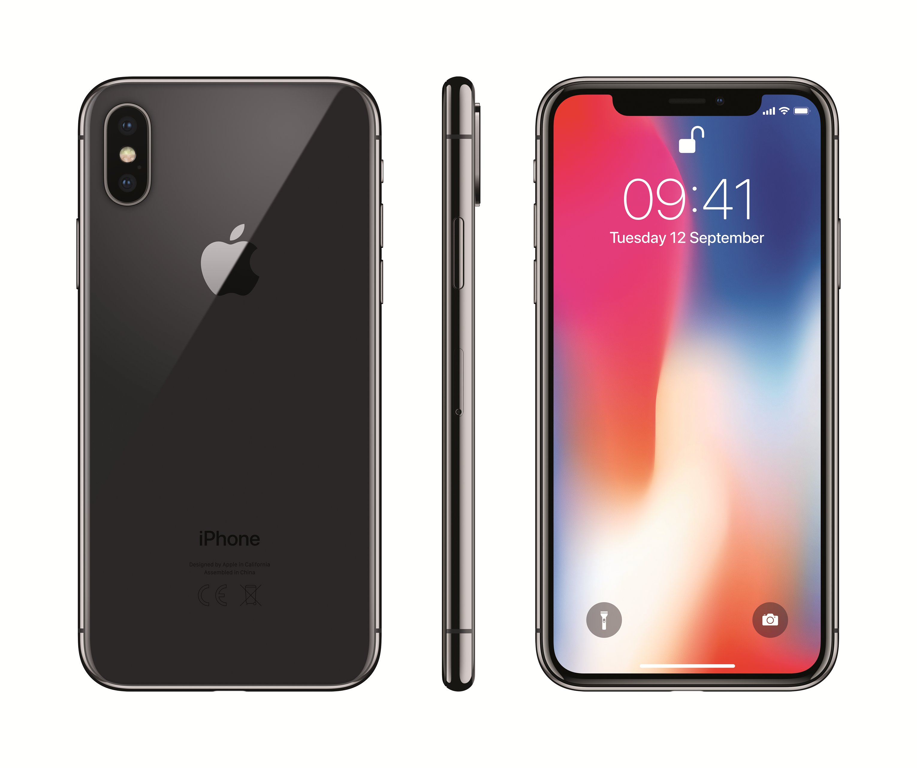 Apple iPhone X 64GB, Pilka
