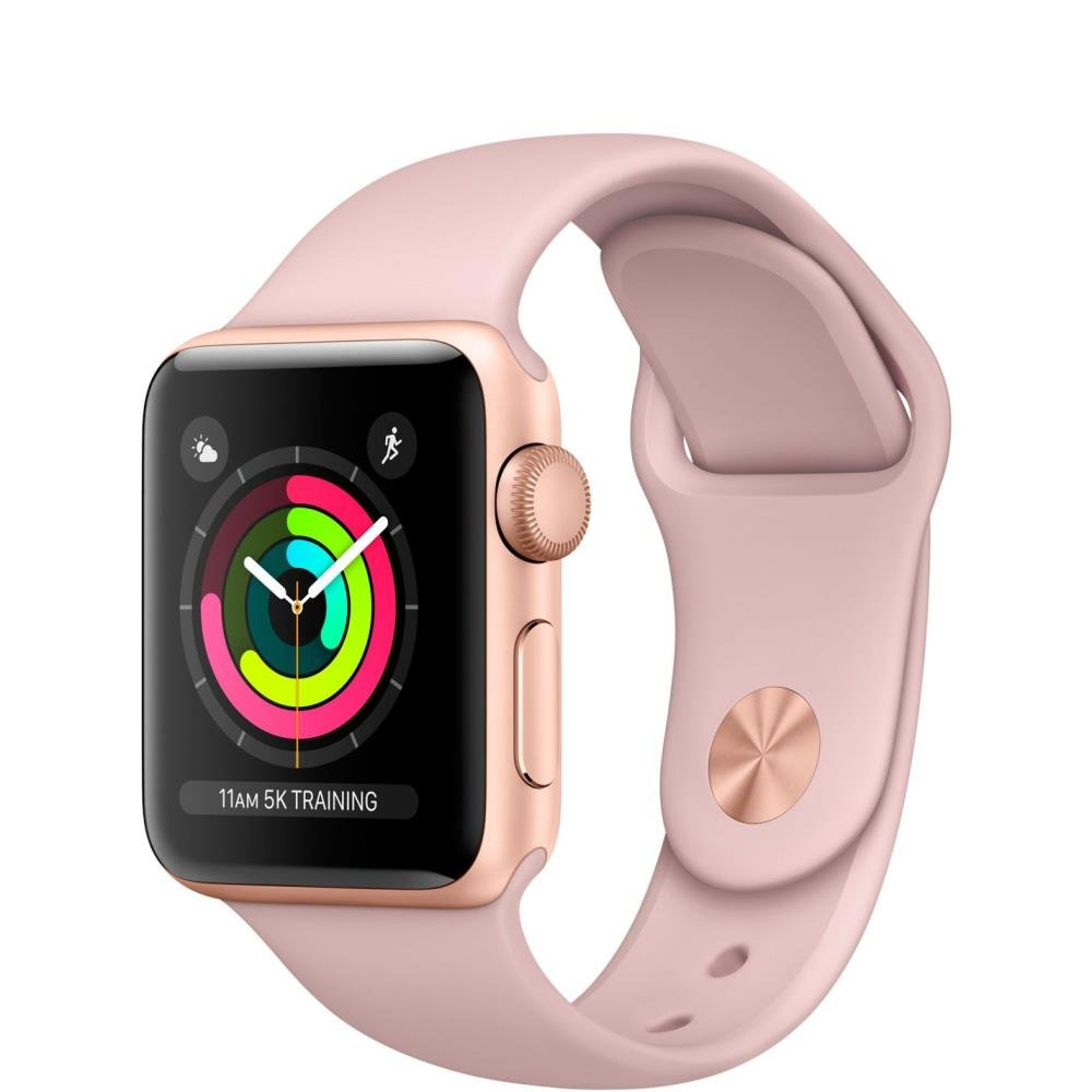 Apple Watch Series 3, 42 mm, Auksinė/Rausva