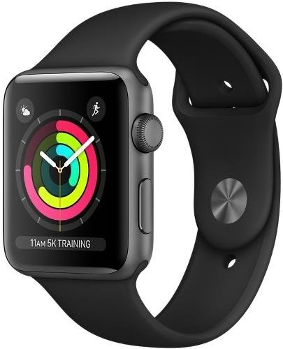 Apple Watch S3, 38mm, Black/Space Gray Aluminum