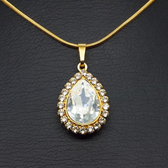 """Kaklo papuošalas moterims DiamondSky """"Celestial Drop"""" su Swarovski kristalais"""