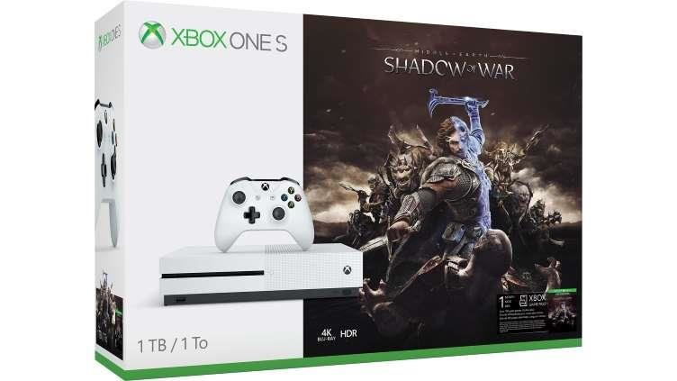 Microsoft Xbox One S 1TB + SHADOW OF WAR