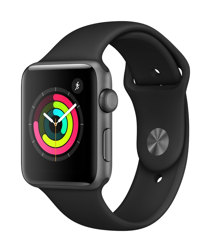 Apple Watch S3,GPS, 42mm, Black/Space Gray Aluminum