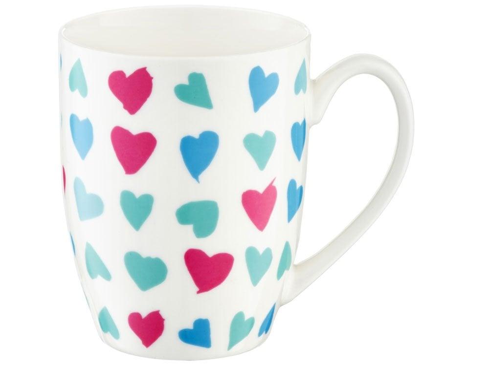 AMBITION puodelis Love Širdys, 380 ml
