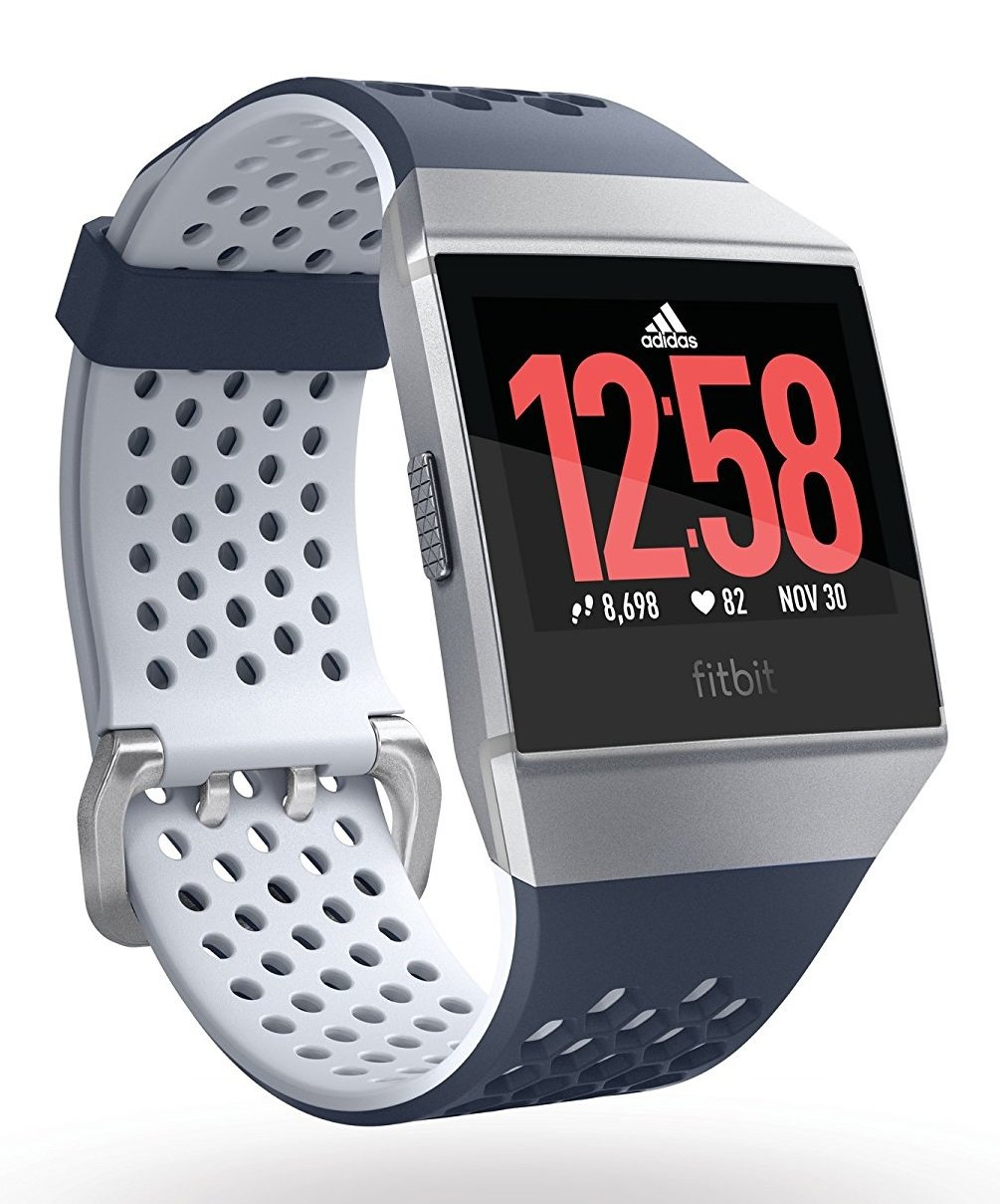 Fitbit Ionic, Adidas edition, Ink Blue/Ice Gray/Silver Gray