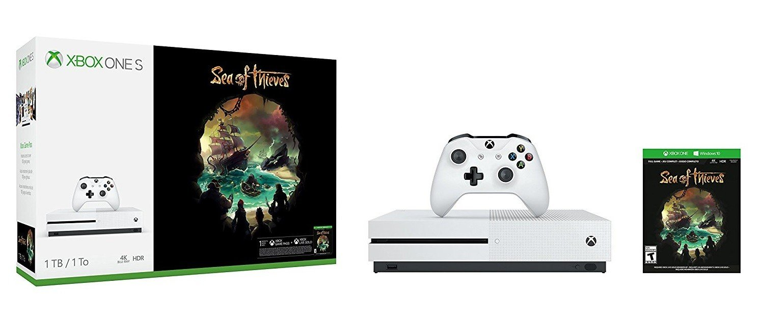 Microsoft Xbox One S 1TB + Sea of Thieves