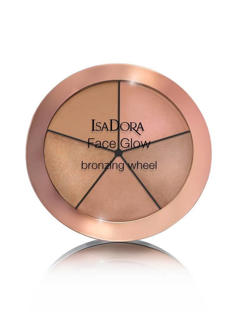 Bronzinanti paletė IsaDora Face Glow Bronzing wheel 18 g