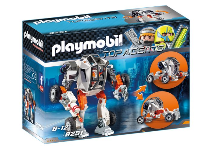 9251 PLAYMOBIL® Top Agents, Agento T.E.C robotas