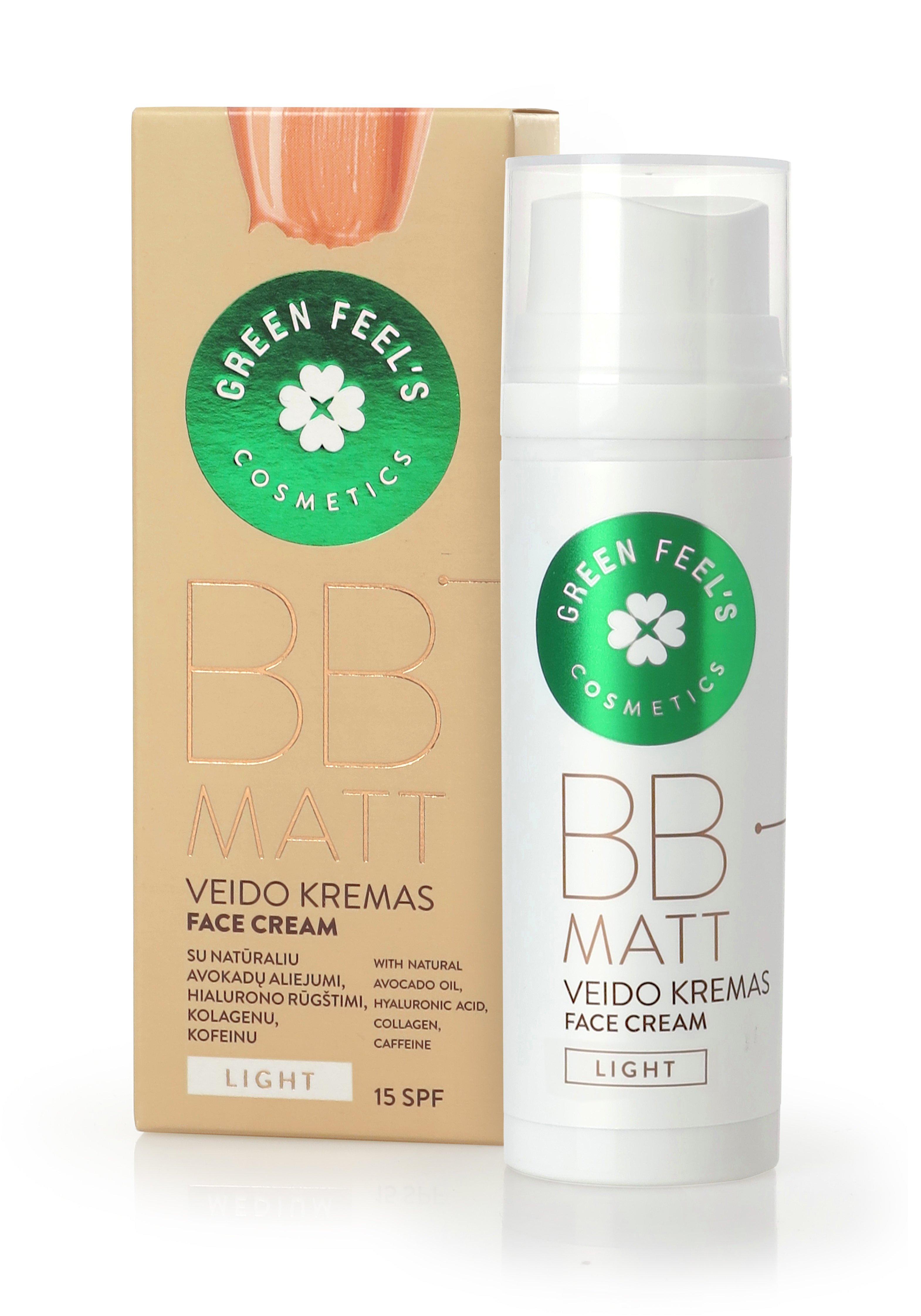 BB veido kremas Green feel's 50 ml Light