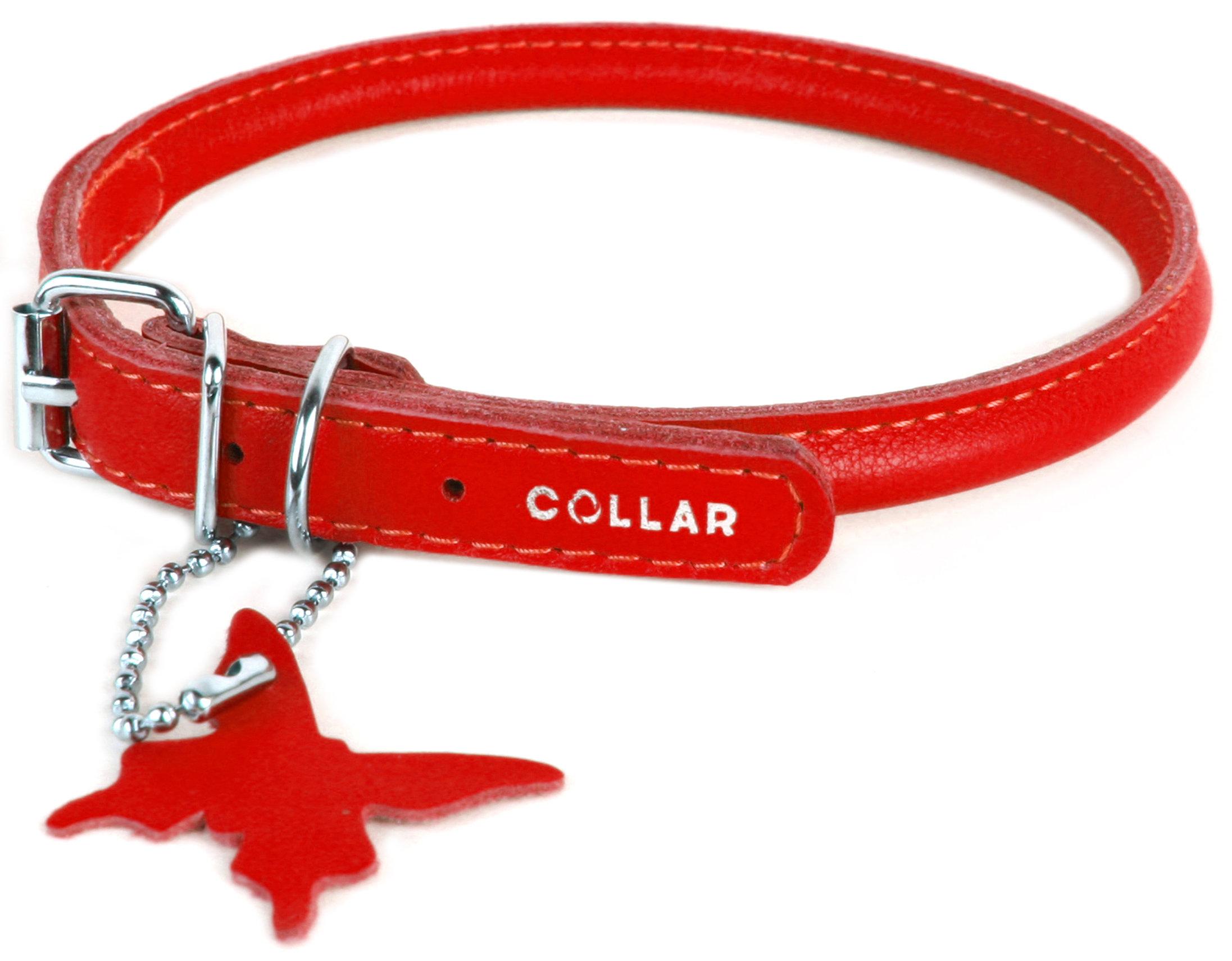 Collar odinis antkaklis Glamour, L, raudonas