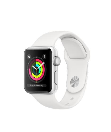 Apple Watch Series 3, 38 mm, Balta/Sidabrinė