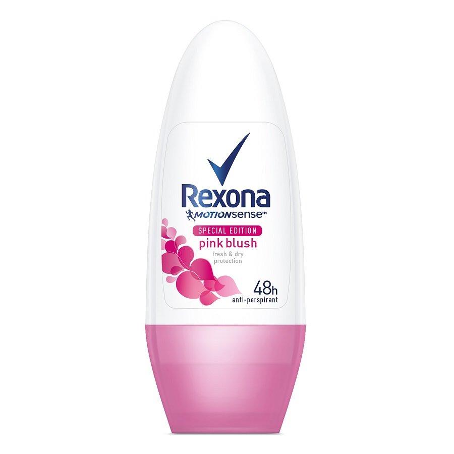 Rutulinis dezodorantas Rexona Motion Sense Pink Blush moterims 50 ml