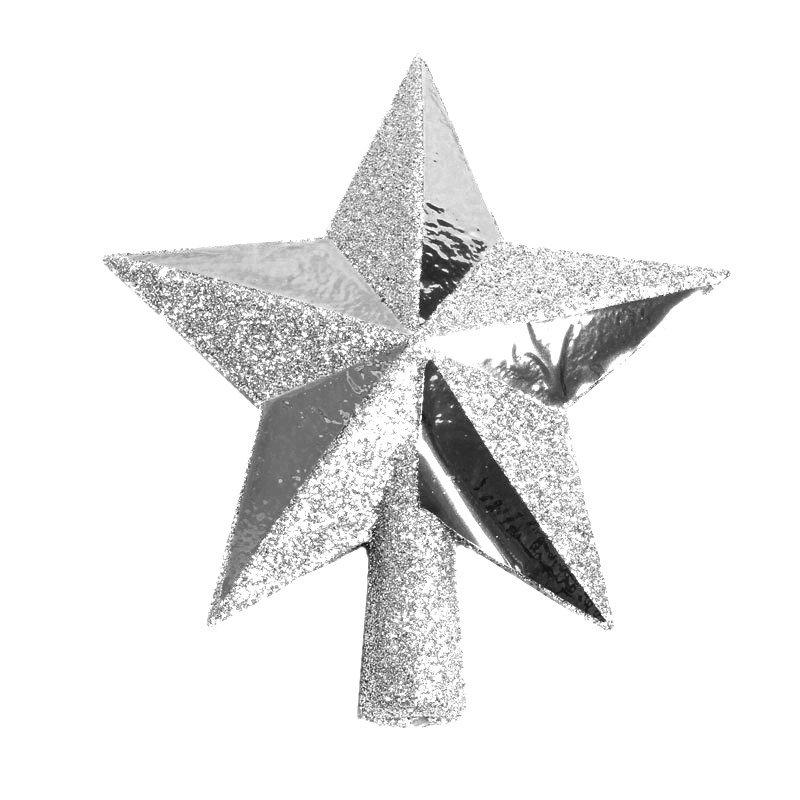 Eglutės viršūnė žvaigždė, sidabrinė