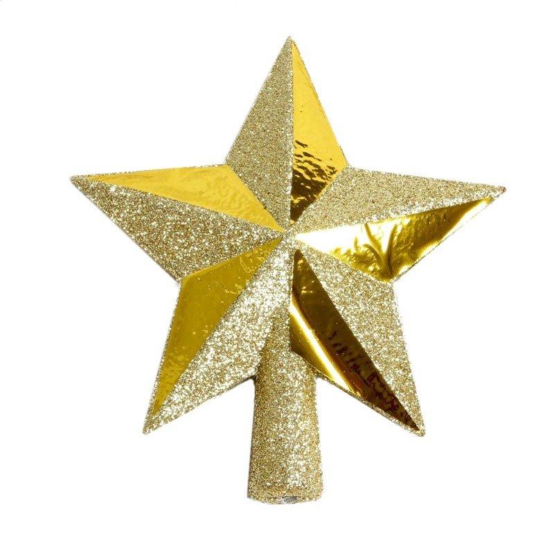 Eglutės viršūnė žvaigždė, auksinė