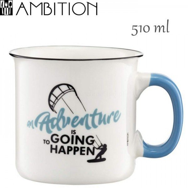 Ambition puodelis Retro Adventure 510 ml