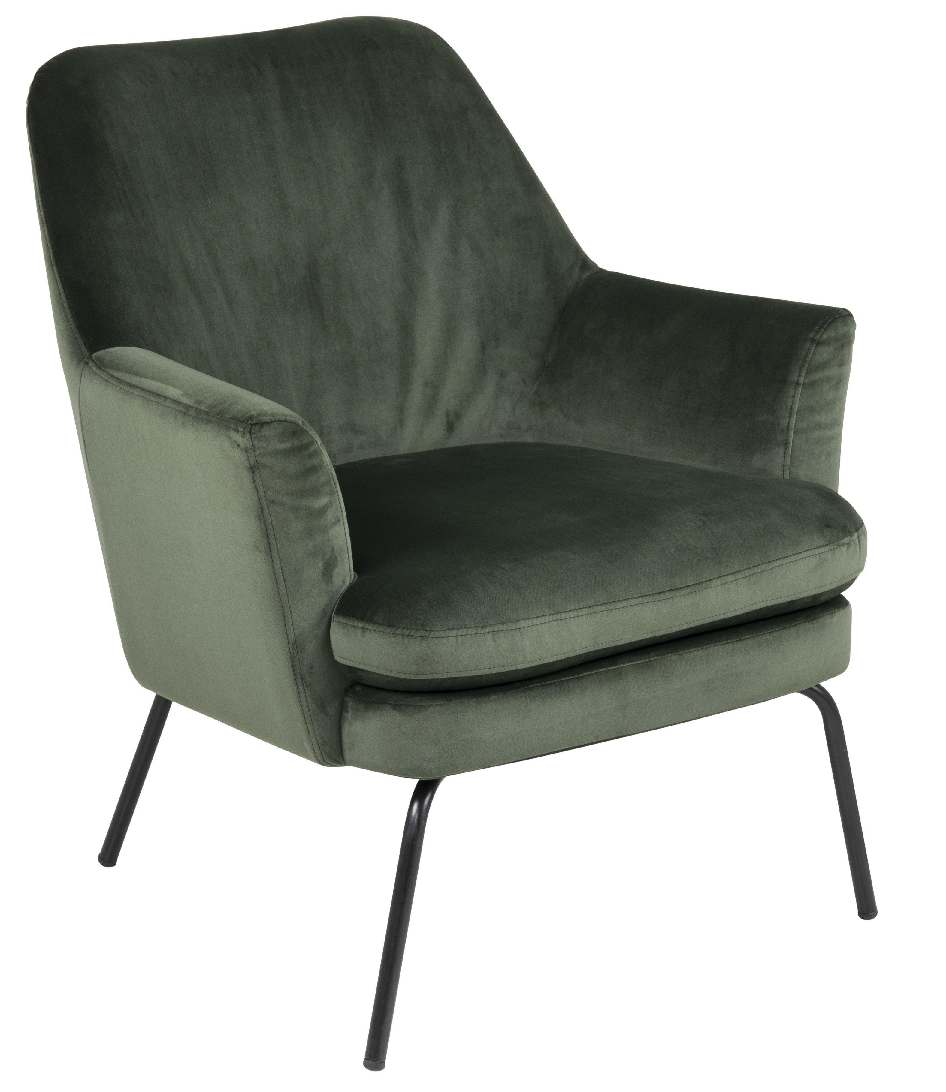 Fotelis Chisa Vic, žalias/juodas