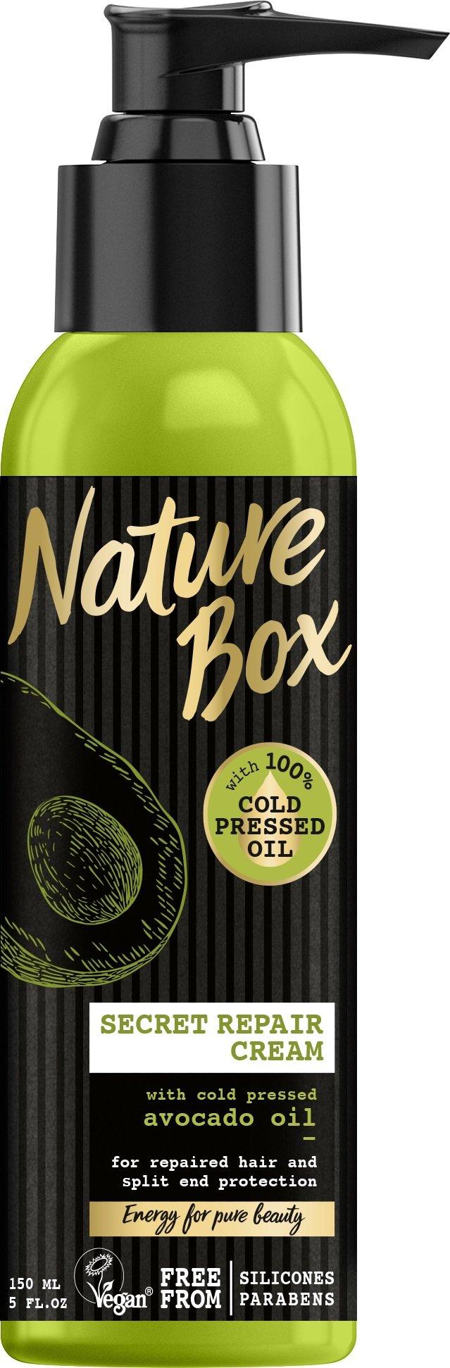 Atstatantis plaukų kremas su avokadų aliejumi Nature Box Avocado 150 ml
