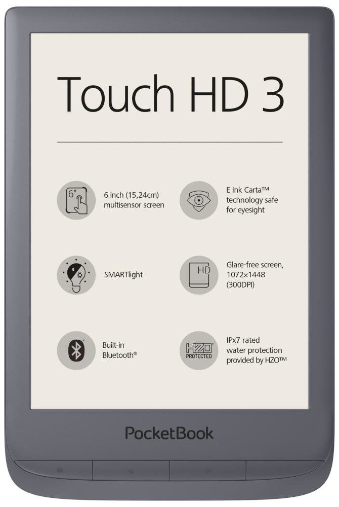 "PocketBook Touch HD 3, 6"", pilkas"