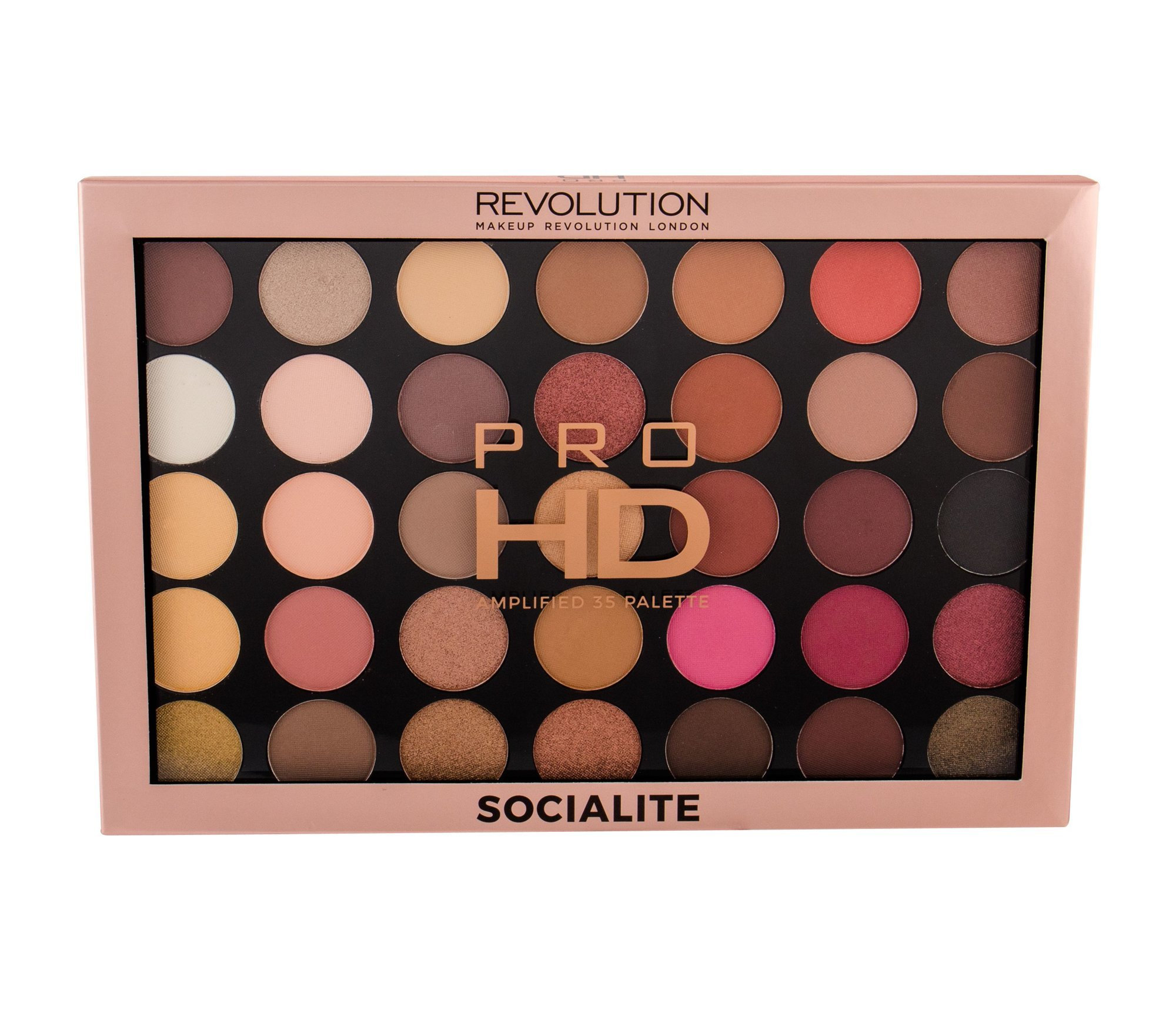 Akių šešėlių paletė Makeup Revolution Pro HD Amplified 30 g, Socialite