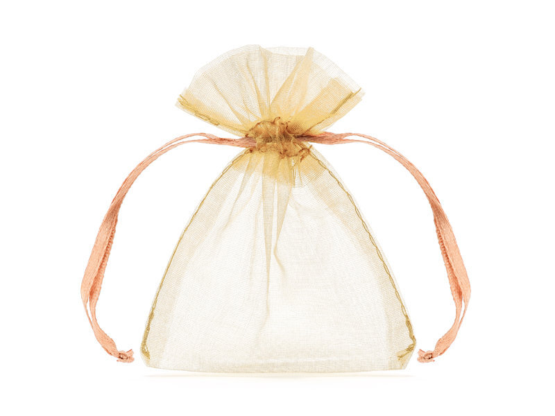 Dovanų maišelis, oranžinis, 10cm (1 pak/ 20 vnt)