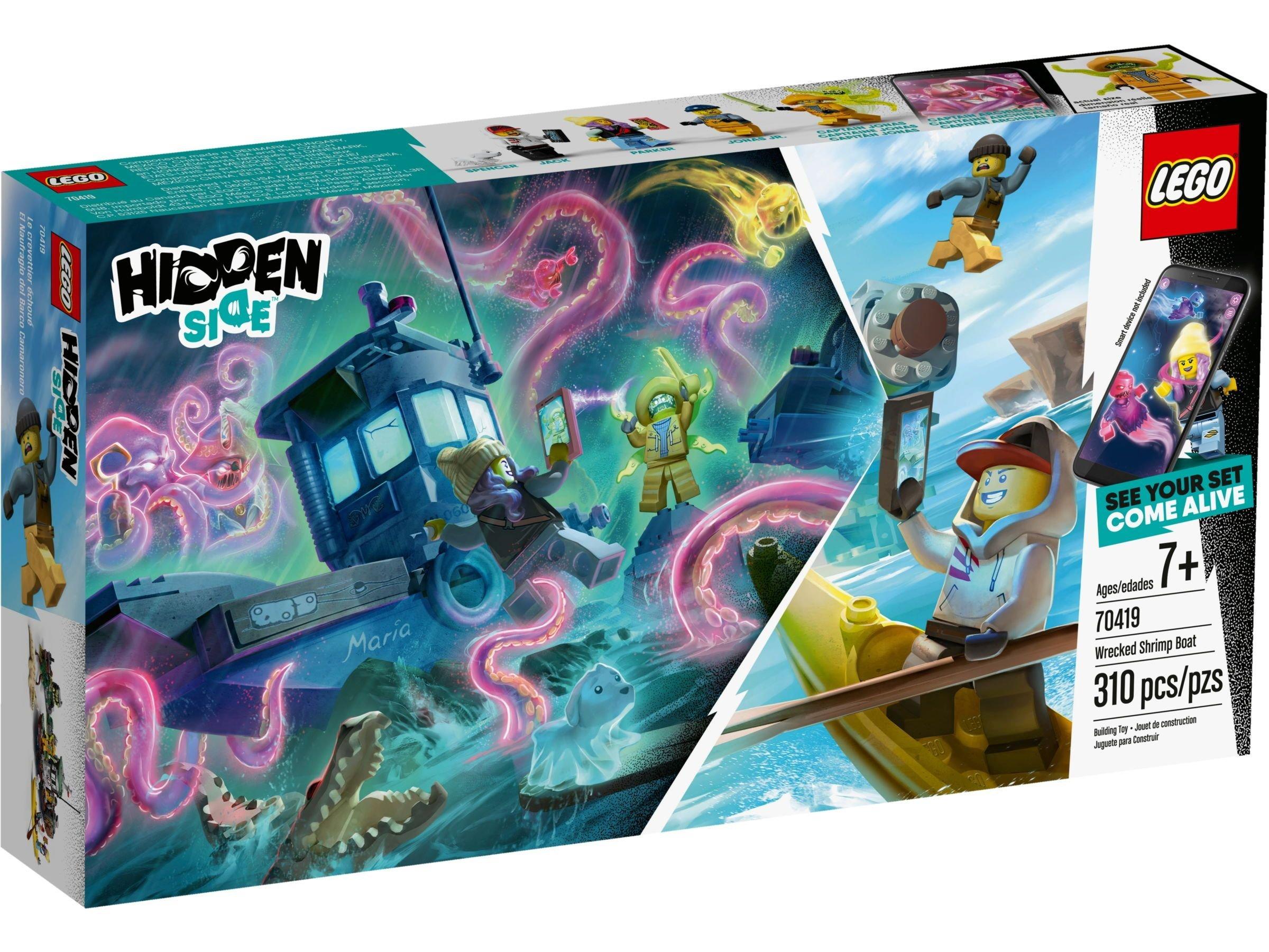 70419 LEGO® Hidden Side™ Sudužęs krevečių gaudymo laivas
